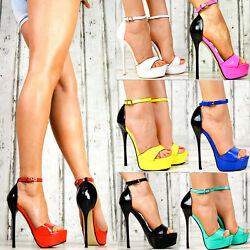 Neu Designer LuXus Damenschuhe Party Plateau Lack Pumps High Heels Club SeXy