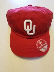 new concept 09c5b 725e9 Image is loading 034-LQQK-034-OKLAHOMA-SOONERS-ADJUSTABLE-STRAP-BACK-