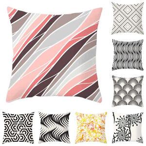Am-CO-Geometric-Wave-Fan-Line-Pattern-Pillow-Case-Waist-Cushion-Cover-Cafe-Dec