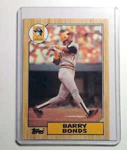 1987 Topps Baseball #320 Barry Bonds Rookie Card Pittsburgh Pirates RC