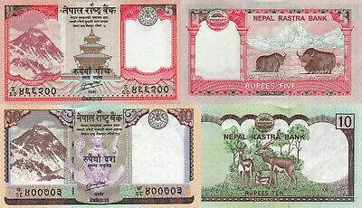 Nepal 10 Rupees p70 x 2 Pieces UNC 2012