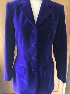 giacca Velvet Lorenza 6 da di equitazione Lussuosa Taglia Purple Equitazione gPPqd
