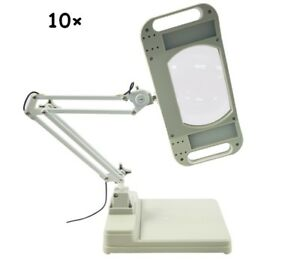 10x led magnifier lamp light magnifying white glass lens desk table image is loading 10x led magnifier lamp light magnifying white glass aloadofball Choice Image