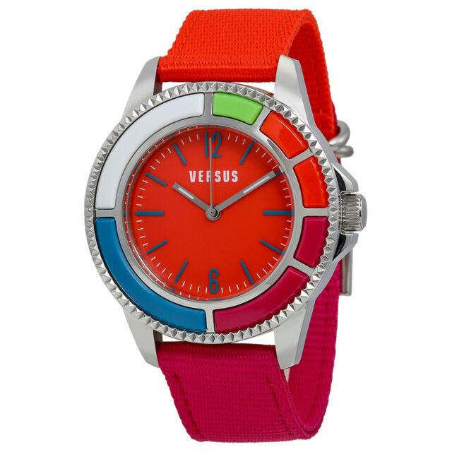 Versus By Versace Tokyo Orange Dial Orange and Pink Canvas Ladies Watch