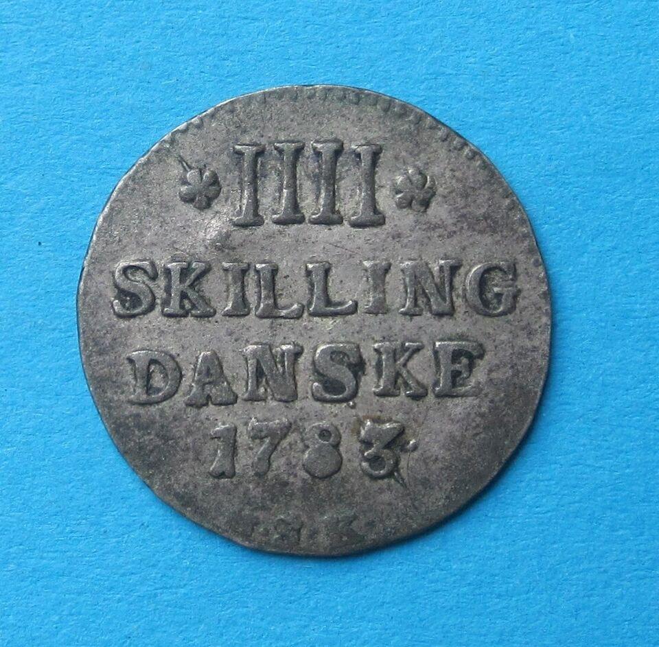 Danmark, mønter, 4 skilling