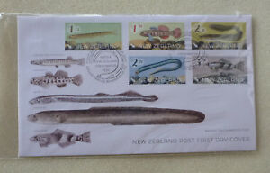 2017-NEW-ZEALAND-FISH-SET-OF-5-STAMPS-FDC-FIRST-DAY-COVER