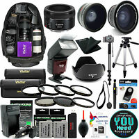 Canon T5i T4i T3i Dslr Camera Everything You Need Accessory Kit + 50mm F1.8 Stm