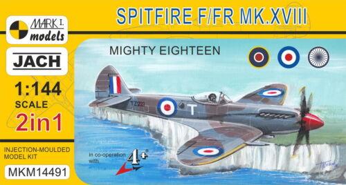 Mark I Models 1//144 Model Kit 14491 Supermarine Spitfire Mk.XVII 2 kits in box