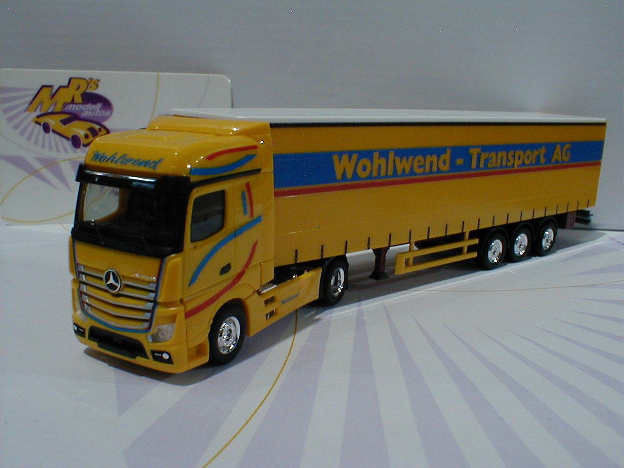 Herpa 927673 - Mercedes-Benz Actros 11 Sattelzug   Wohlwend Wohlwend Wohlwend   in yellow 1 87 NEU a5f523