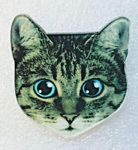CAT BROOCH acrylic brooch grey kitty brooch Retriever acrylic jewelry animal brooch cat Pin