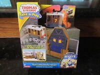 Thomas & Friends Train Set Toby Spooky Barn Portable Railway Tale Brave Toy