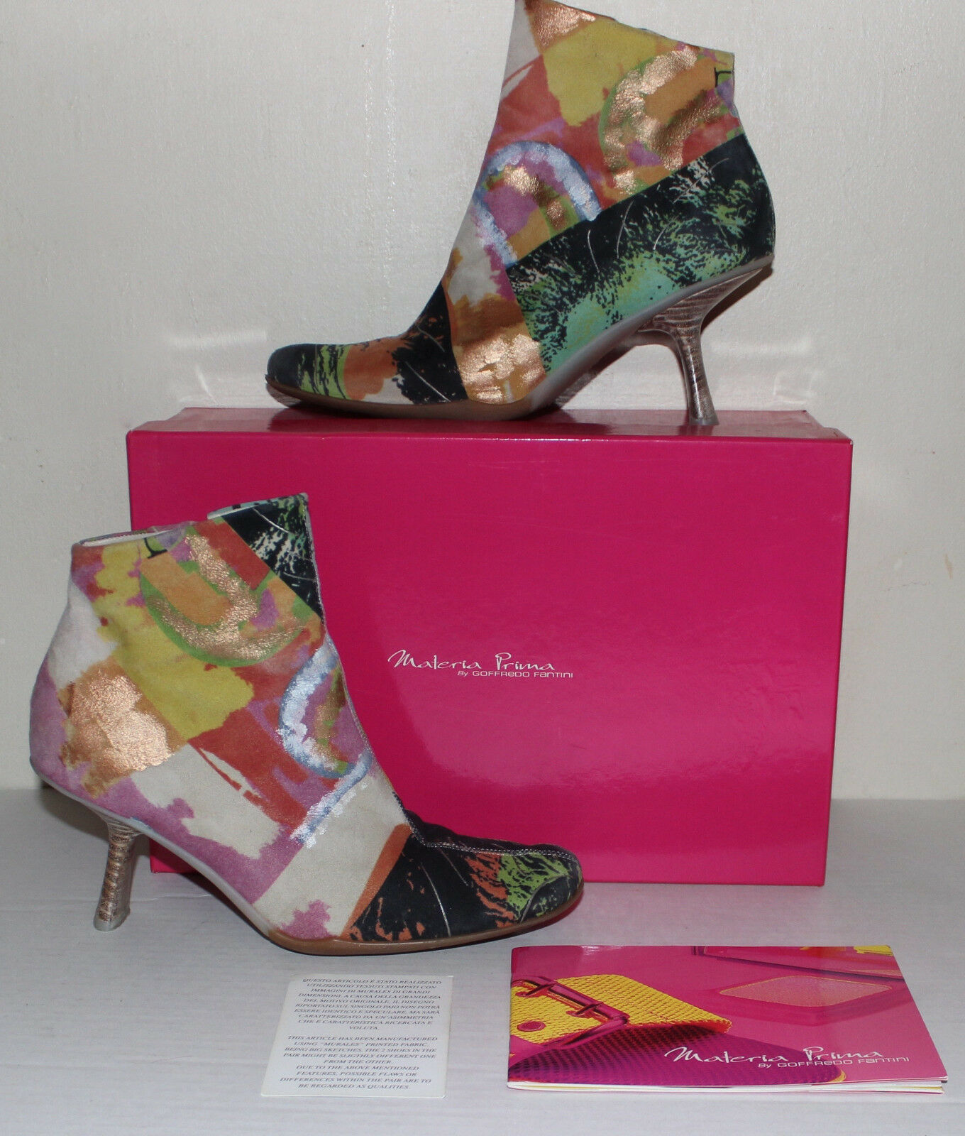 Materia Prima by Goffredo Fantini Poster Pelle print suede ankle boots  38