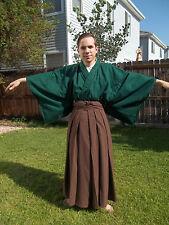 Custom Made To Order Japanese Full Samurai Kimono Hakama Set Martial Arts