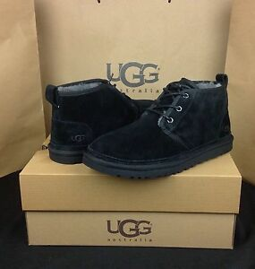 Image is loading UGG-Australia-Boots-Neumel-Black-Shearling-Sheepskin-US-