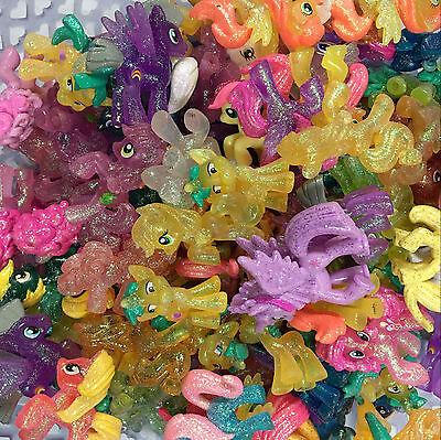 "Lot 10x Random My Little Pony Blind Bag Glitter LOOSE Mini 2"" Figure Kid Toys"