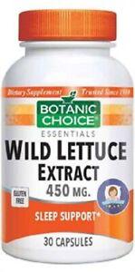 Botanic-Choice-Wild-Lettuce-Extract-30-Capsules-free-shipping