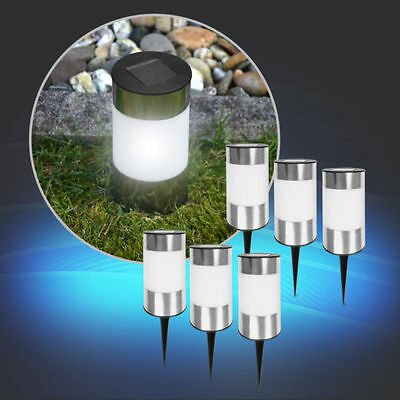 10x Led Solarleuchte Gartenleuchte Erdspieß Solar Gartenbeleuchtung Solarlampe