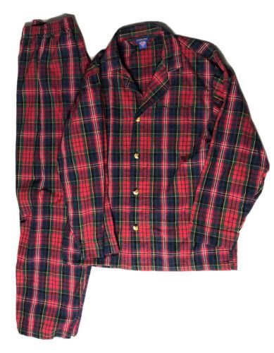 Pendleton Men's Red Plaid Cotton Flannel 2 Piece P