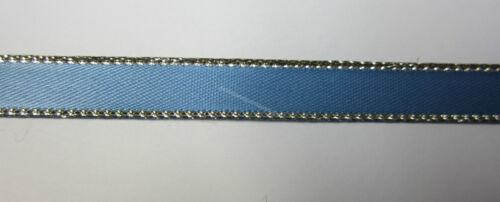 Scrapbooking 23 Metres Satin Ribbon 10mm Gold Edge Craft Trim Sewing