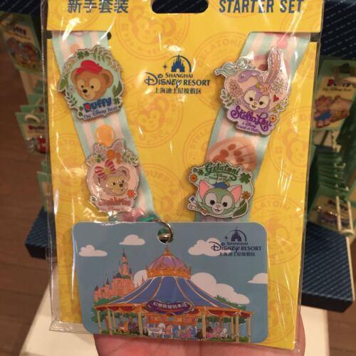 Disney Pin lanyard duffy shelliemay stella lou gelatoni shanghai Disneyland