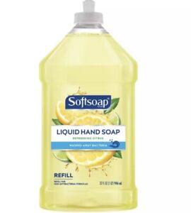 Softsoap Liquid Hand Soap Refill, Refreshing Citrus Scent, 32 Fl Oz Pour Bottle