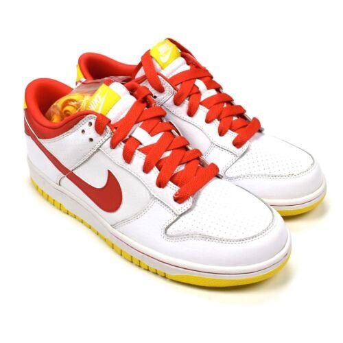 Mcdonalds 2008 Ds Rouge Hommes Nwt Jaune Dunk Nyx Baskets Authentic Blanc Nike Low fwInAxqnR1