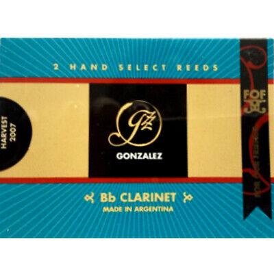O FleißIg Gonzalez Bb Klarinette' F Packung 2 F ' Reeds Stärke 3.75
