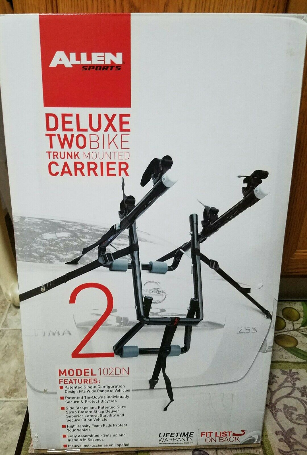 Allen Sports Deluxe 2-Bike Trunk Mounted Bicycle Carrier