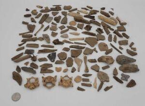 Illinois Stone And Bone Artifacts Grouping Vertebrae And More 100 Plus Pcs