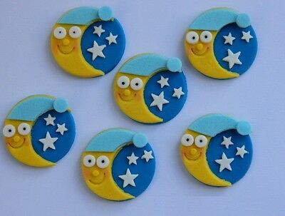 Sun Suns Moon Moons pinks Multi Edible Cake Topper Wafer or Icing Decoration