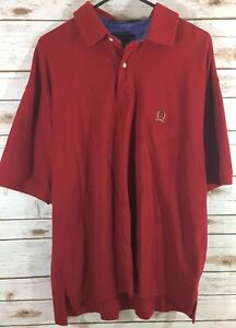 Vintage-Tommy-Hilfiger-Mens-Crest-Logo-Short-Sleeve-Polo-Shirt-Size-XL-Red