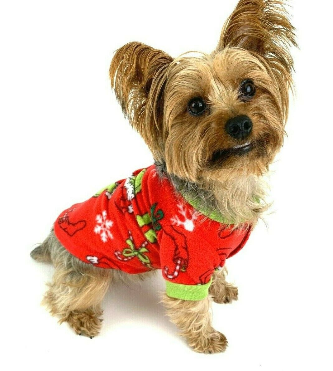 Dog Coat With Dr Seuss Grinch Motif In