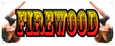 36 Firewood Sticker Retail Store Outdoor Decal Sign