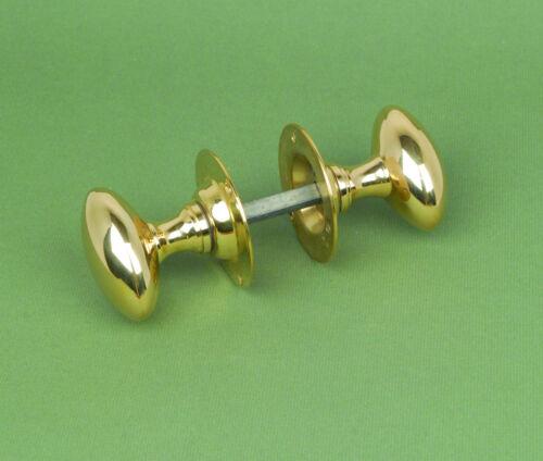 Handles Warwick Reclamation Pair Of Antique Solid Brass Oval Door Knobs