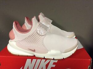 save off 052d1 01107 Details about WOMENS NIKE SOCK DART PREMIUM SHOE SILT RED-RED STARDUST-SAIL  881186 601