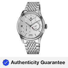 New Oris Artelier Calibre 112 Silver Men's Watch 01 112 7726 4051-Set 8 23 79