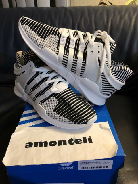 cheap for discount 109db 9edd2 adidas EQT Equipment Support ADV PK Primeknit BA7496 White Turbo Black Sz 12
