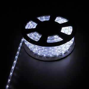 100FT-Cold-White-LED-Rope-Light-Home-Party-Wedding-Decor-In-Outdoor-Festival