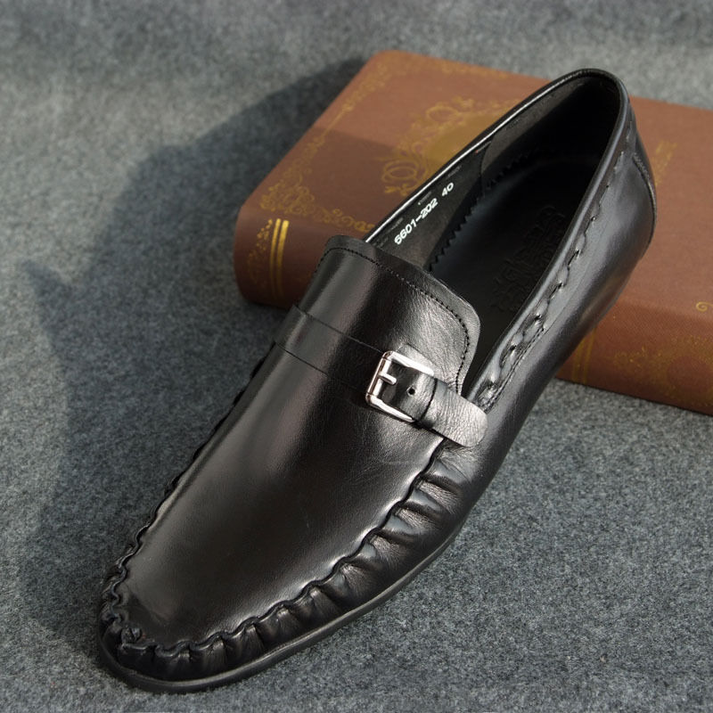 New Mens Real Leather Boat Deck shoes Driving Casual shoes Slip On Black