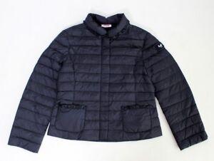 IL-GUFO-leichte-Daunen-Jacke-in-blau-m-Rueschen-a-d-Taschen-Gr-128-164-NEU