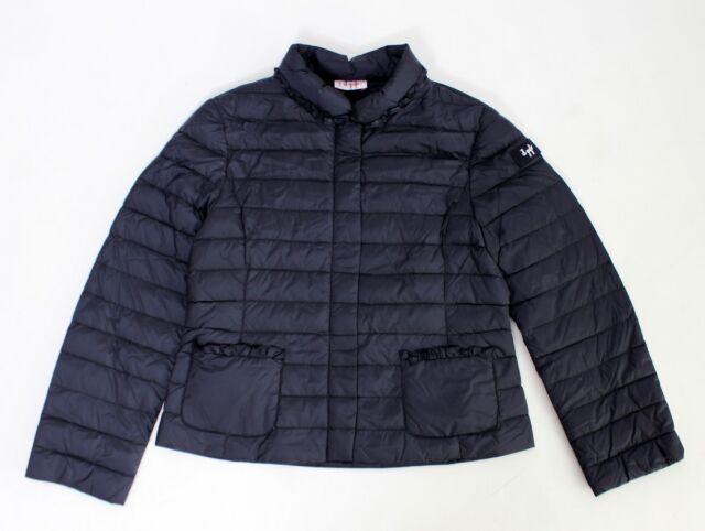 IL GUFO leichte Daunen Jacke in blau m. Rüschen a. d. Taschen* Gr.128-164 NEU%%%