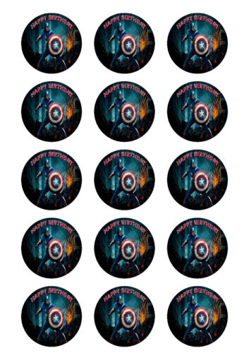 Avengers Personalized Edible Print Premium Cake Topper Frosting Sheets 5 Sizes