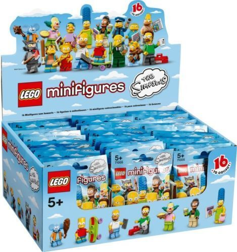 Lego Minifigures Serie The Simpsons, 71005 Sigillato 60 Buste - 60-Booster Box