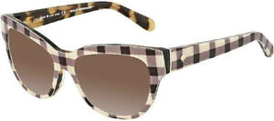 Kate-Spade-Aisha-Women-039-s-Fabric-Patterned-Cat-Eye-Sunglasses-006G-J6