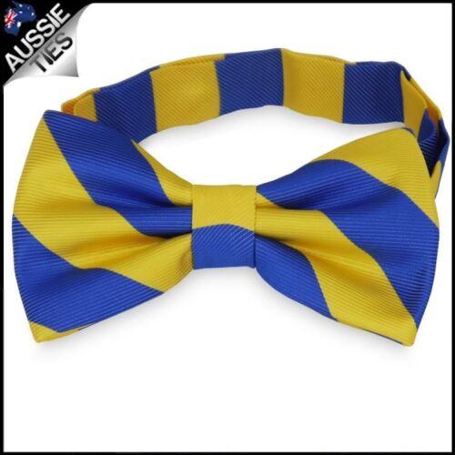Mens Blue /& Yellow Stripes Bow Tie Paramatta Eels Colours Bowtie