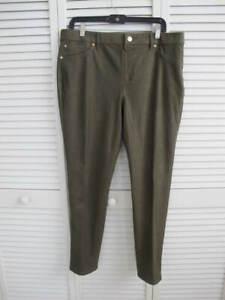 similicuir fonc olive vert couleur Pantalon vert Chico's en Hqxvw1EO