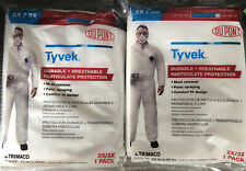 Two 2 New Tyvek Protective Suitscoveralls Size 2x3x 14324