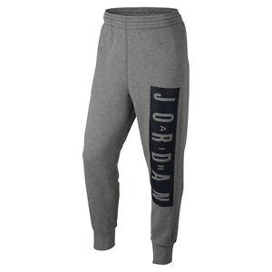 Activewear Trend Mark Nike Men's Air Jordan Jumpman Brushed Graph Flight Pants Grey 802217-064 A Exquisite Traditional Embroidery Art