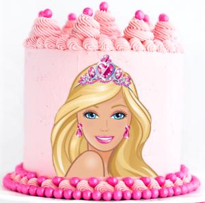Brilliant Barbie Edible Cake Topper Or Cupcake Topper Decor Fa Personalised Birthday Cards Beptaeletsinfo
