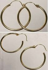 High Quality 14kt Gold 19mm Top Wire Hoops Ancient Hellenic Greece Mycenea Crete